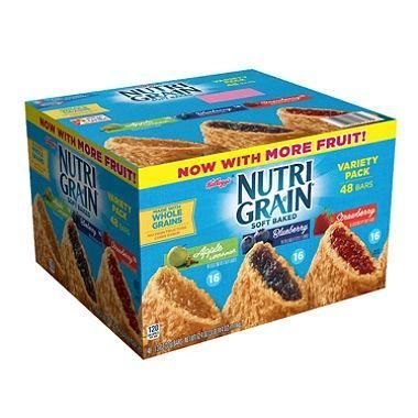 Kellogg's Nutri-Grain Variety Pack (1.3 oz., bar, 48 ct.)