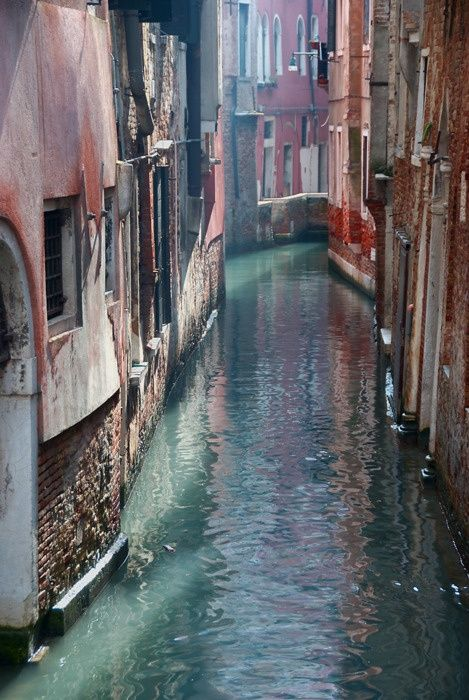 Venice... in April.  The mornings and evenings are cool, the days are sunny and warm and there are only a few tourists.
