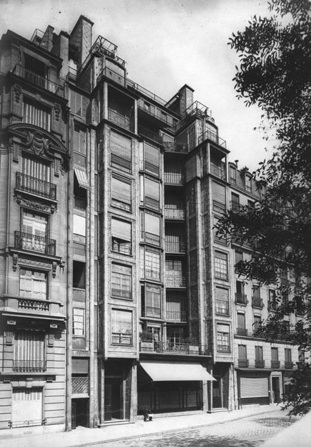 Auguste Perret - Immeuble d'habitation rue Benjamin Franklin, Paris, 1904