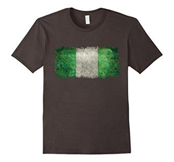 "Amazon.com: Official ""LoneStarDesigns"" Vintage Nigerian Flag T-Shirt: Clothing #nigeria #nigerian #flag"