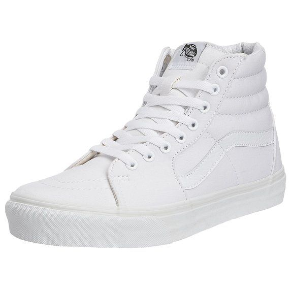 Vans Sk8-Hi, Unisex-Adults' High-Top Trainers, True White, 10.5 UK