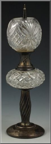 Gorham Sterling Silver American Brilliant Cut Glass Miniature Banquet Lamp | eBay