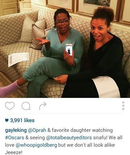 Gayle King reacts to the hilarious Oscars Identity Mixup Of Oprah Winfrey With Whoopi Goldberg