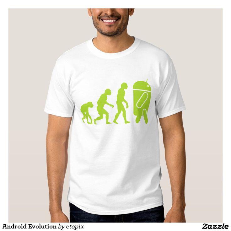 Android Evolution Shirt. Regalos, Gifts. #camiseta #tshirt
