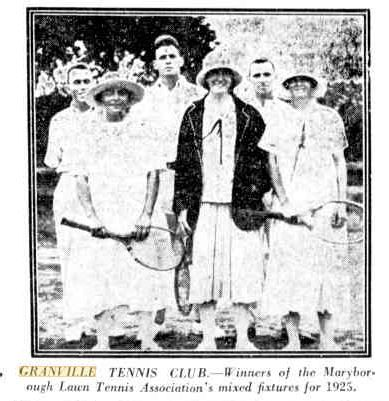 12 November 1925 Granville Tennis Club, Qld - Winners of the Maryborough Lawn Tennis Associations mixed fixtures for 1925
