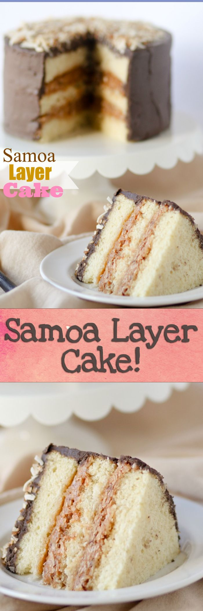 Samoa Layer Cake!! OMG NEED. Love that coconut/caramel frosting!!!