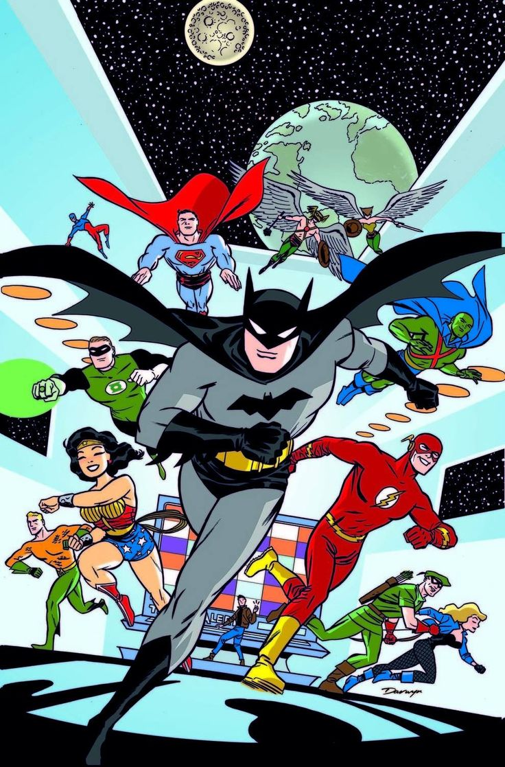 "Pinner before:I'm a long-time comic book collector, and I really enjoy Darwyn Cooke's ""New Frontier"" Justice League artwork."