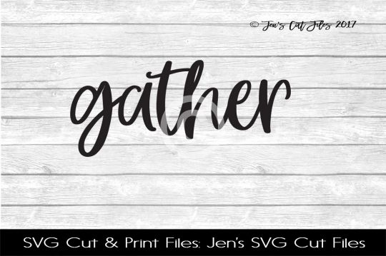 Gather SVG Cut File