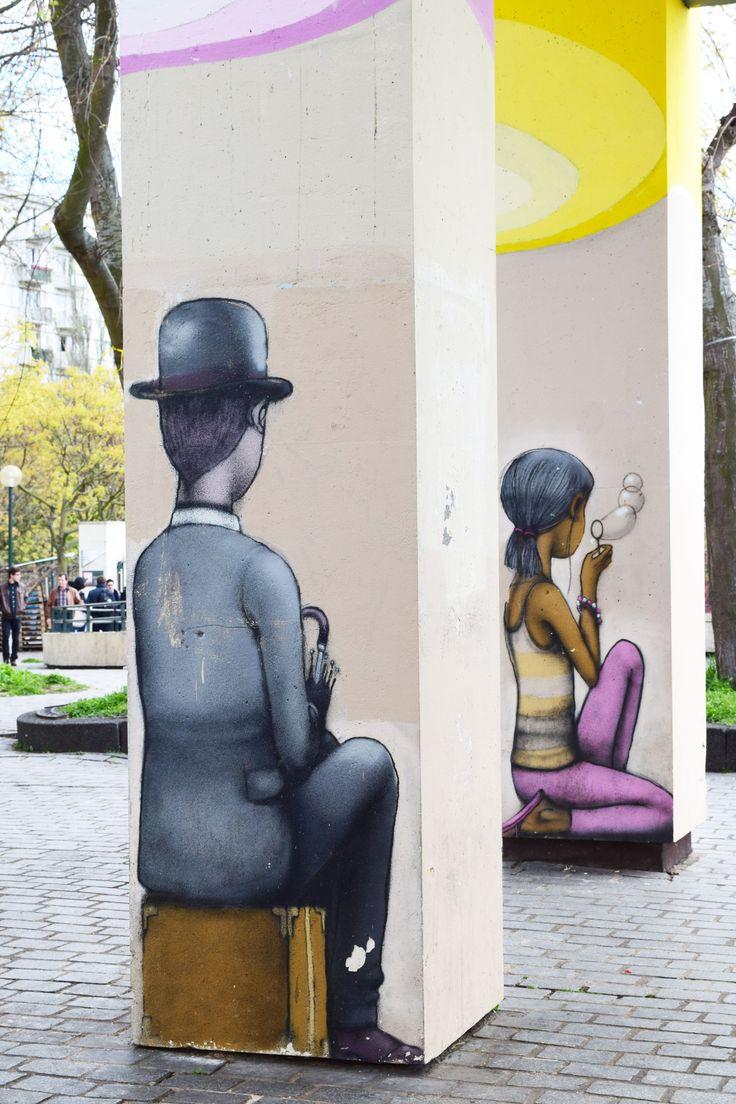 street art (Parc de Belleville, Paris) - by Pixel Pancho