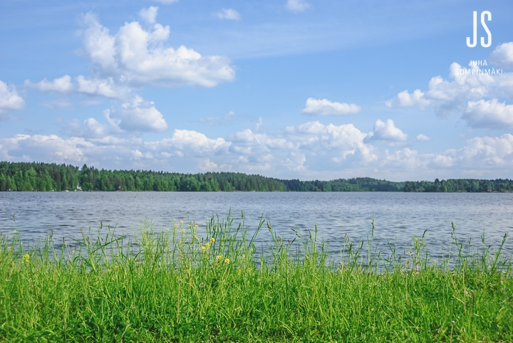 Very typical Finnish summer landscape #Finland #summer #lake #landscape