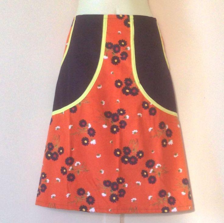 Plus size aline skirt / handmade skirt / corduroy skirt / XL / Australian size 16 / US size 12 / (44.00 USD) by evilruby