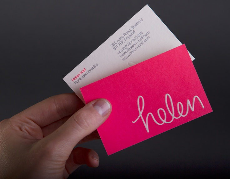 fun business card - front & back
