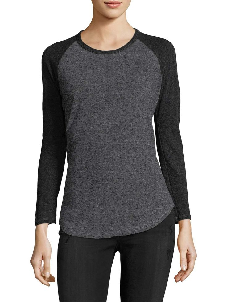 Buy Cheap Low Price Fee Shipping Authentic Cheap Online Monrow Woman Distressed Jersey T-shirt Gray Size XS Monrow Cheap Reliable Cheap Largest Supplier Discount Outlet SU0cfpSJk