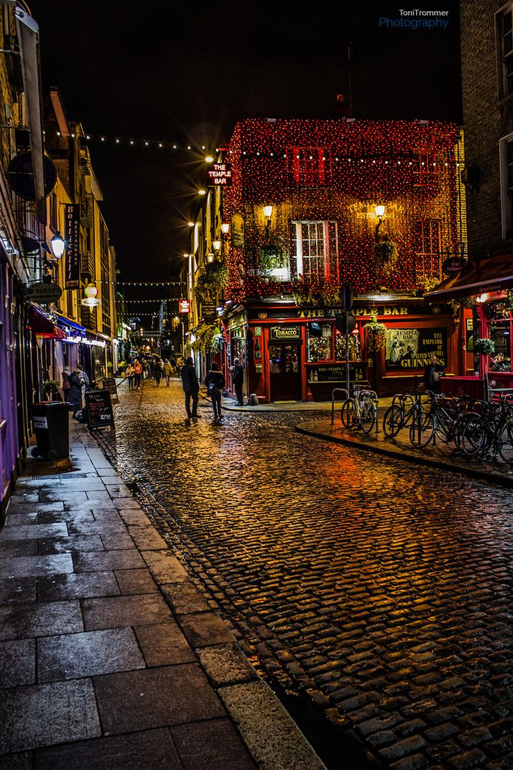 Temple Bar, Dublin, Ireland -- so relaxing and peaceful city.  Plenty of liquid sunshine daily!!!