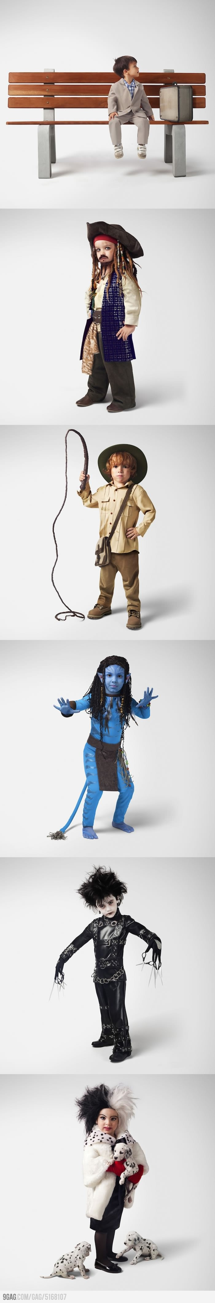 Awesome Movie Cosplays by Kids | Indiana Jones and Edward Scissorhands are adorable.