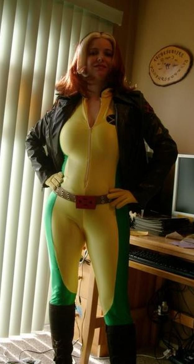 X-Men's Rogue DIY Costume and other DIY superhero costume ideas, see more at http://diyready.com/diy-superhero-costume-ideas