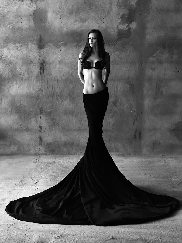 like a gothic fairytale version of the little mermaid beautiful art fashion photo Loving VII evokes black sacred embodiment