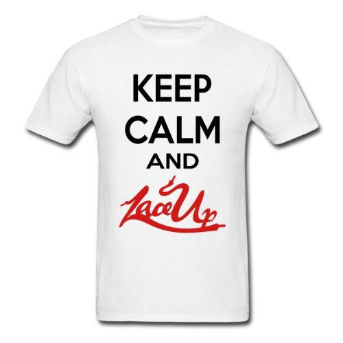 "Totally getting this ""Keep Calm And Lace Up"" shirt!! MGK Lace Up!!(:<3"