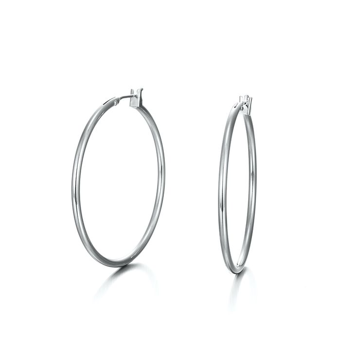 White Gold Layered Hoop Earrings | Allure Gold