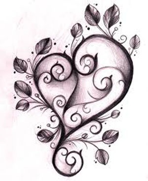 Heart and Leaves.  An art piece that would make a cool tattoo.