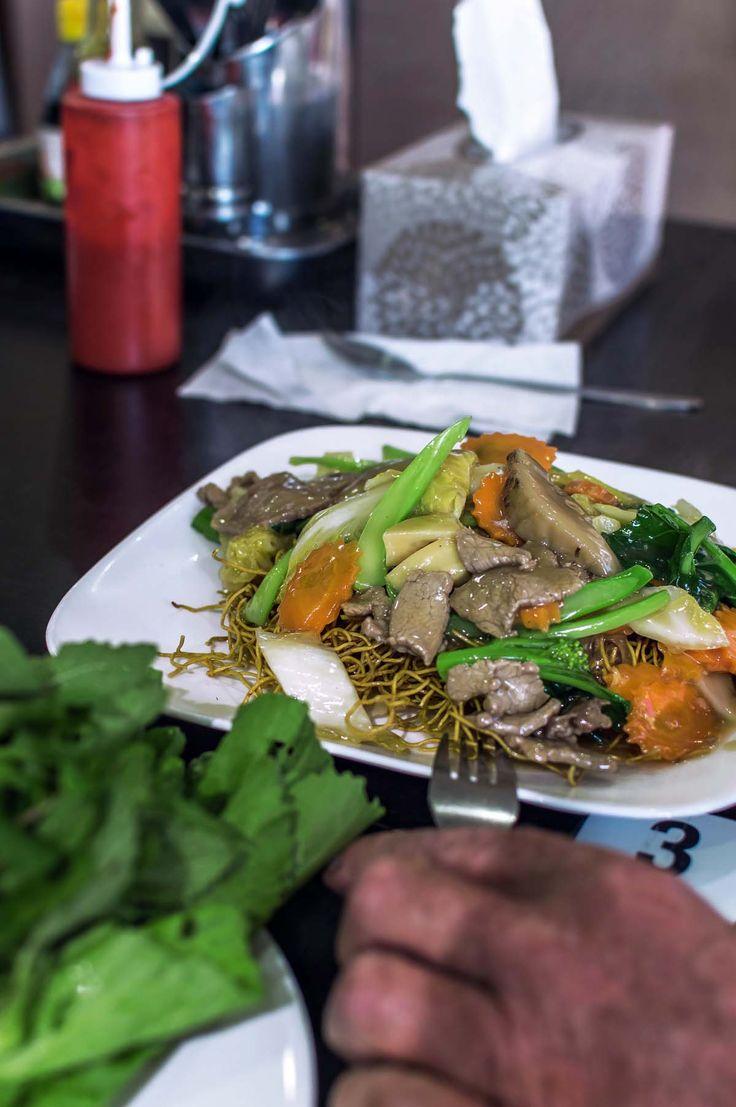 Beef noodle stir-fry at CT Coffee & Restaurant, Inala | heneedsfood.com