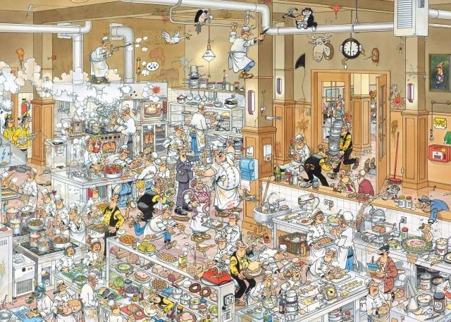 Jan van Haasteren: De keuken (2000 stukjes)