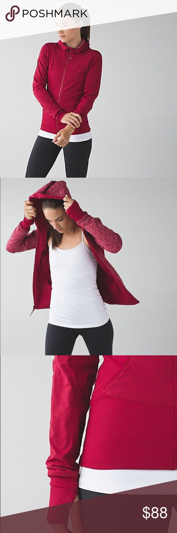 LULULEMON In Flux Jacket - Cranberry Red Sz Small lululemon athletica In Flux Jacket - Gorgeous Cranberry Red - Size Small - Lightweight, Stretchy, Reversible, & Water-Repellent - Gently used and in excellent condition! Sold out online - make an offer! lululemon athletica Jackets & Coats