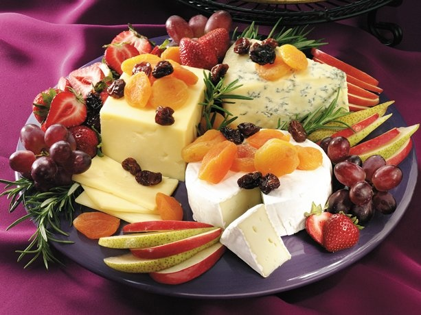 Elegant Cheese and Fruit Platter