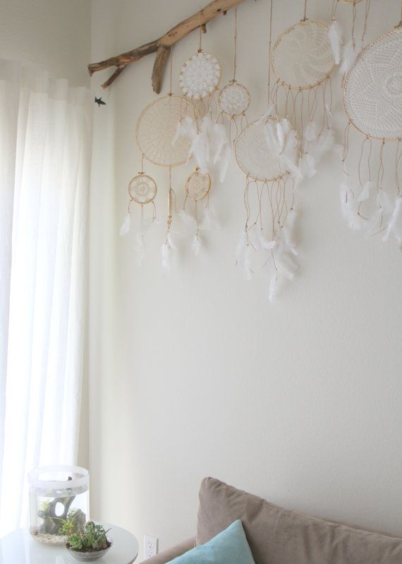 Vintage Doily Dreamcatcher No. 004 by BelleNotti on Etsy i would love to have that