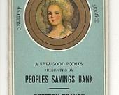 Vintage Sewing Needle Book Peoples Savings Bank, Creston Branch