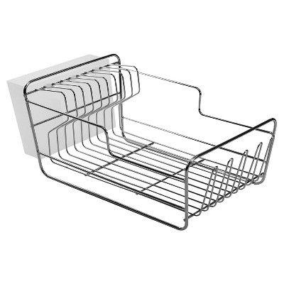 Dish Racks with Utensil Tray Matte Nickel Small - Threshold, Silver