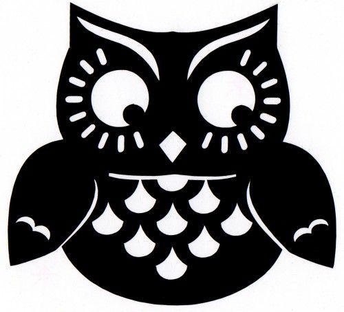 Best 25 owl pumpkin stencil ideas on pinterest owl pumpkin fat owl self adhesive vinyl decal pronofoot35fo Choice Image