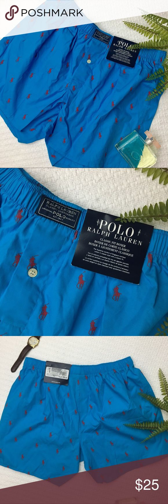"""POLO Ralph Lauren Classic Boxers Hey ladies! This is such an easy """"go-to"""" present for any man! Bright blue 'classic fit' POLO Ralph Lauren boxers NWT Polo by Ralph Lauren Underwear & Socks Boxers"""