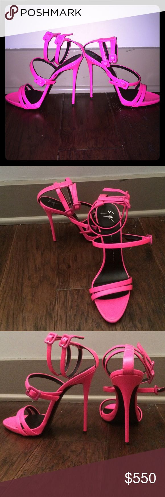 Giuseppe Heels size 41 Beautiful pink Giuseppe Zanotti heels size 41 with box. Never worn. Minor scuffs from trying them on Giuseppe Zanotti Shoes Heels