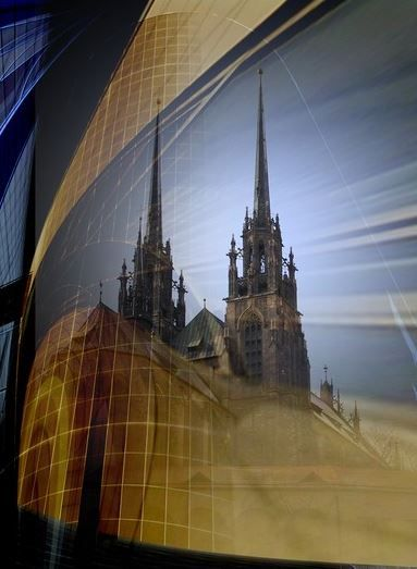 Brno (South Moravia), Czechia - towers of St.Peter and Paul cathedral