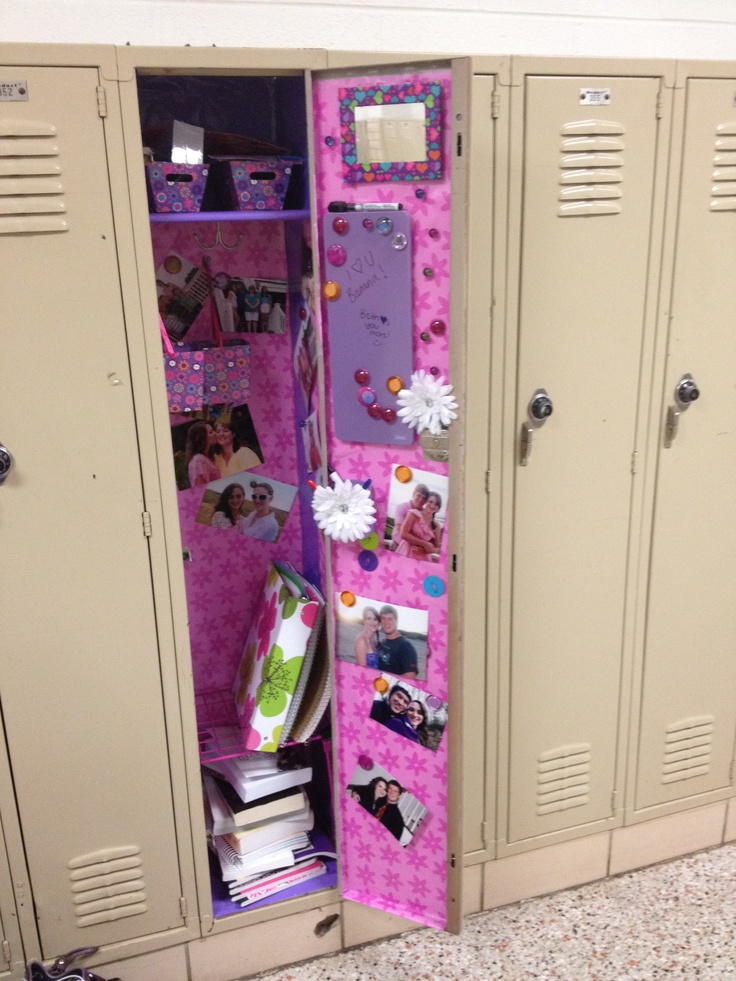 Decorate Your Locker! Just Cut The Wrapping Paper To Fit Your Locker.  Decorate With