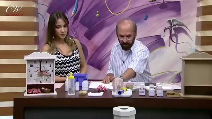 CW Artesanato - Carlos Saad - Mulher.com - Rede Século XXI - Relógio com...