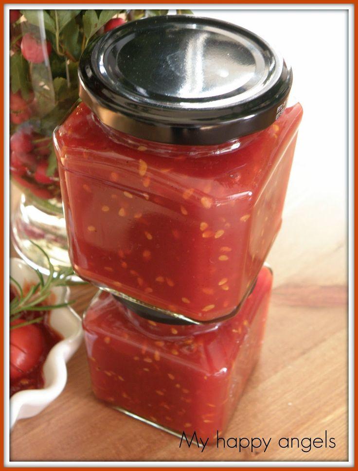 na     RAJČATOVÝ DŽEM          Recept jsem našla na blogu Výpečky...   http://www.vypecky.com/2014/09/rajcatovy-dzem.html   ...a pokud h...