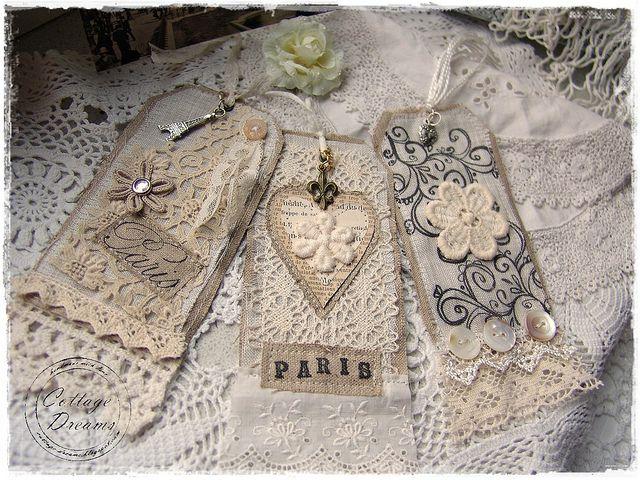 French Fabric Tags by xela66, via Flickr