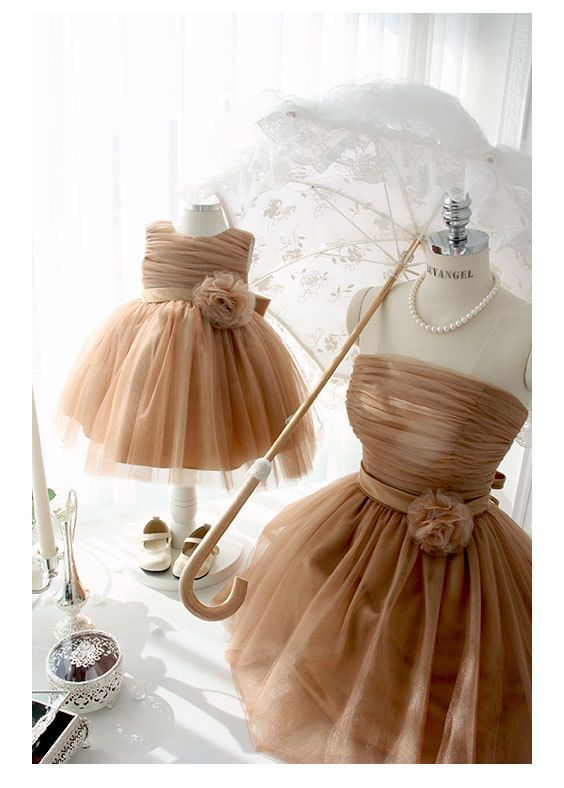 1000 images about mommy and me on pinterest toddler for Matching wedding and flower girl dresses