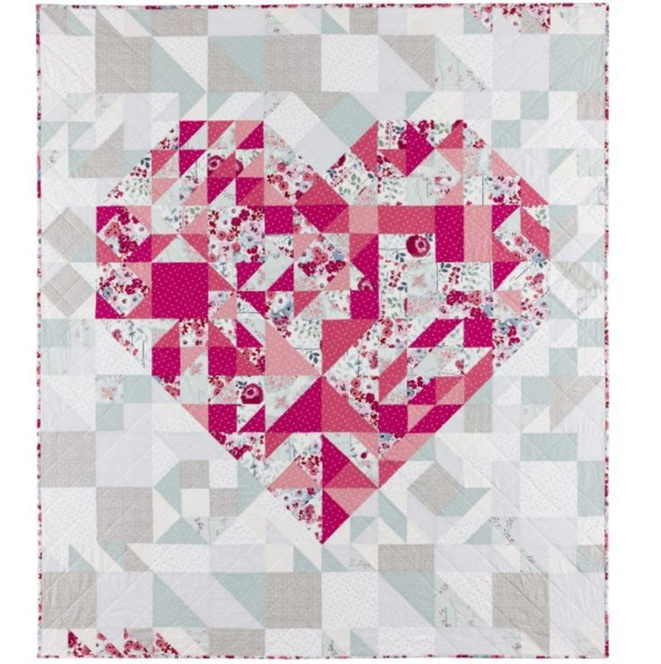 31 best Heart quilts images on Pinterest | Heart quilts, Quilt ...