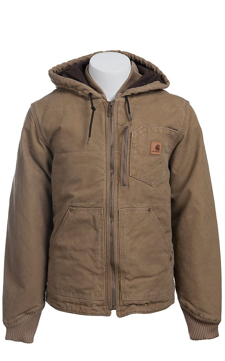 Carhartt® Frontier Brown Fleece Lined Sandstone Chapman Jacket