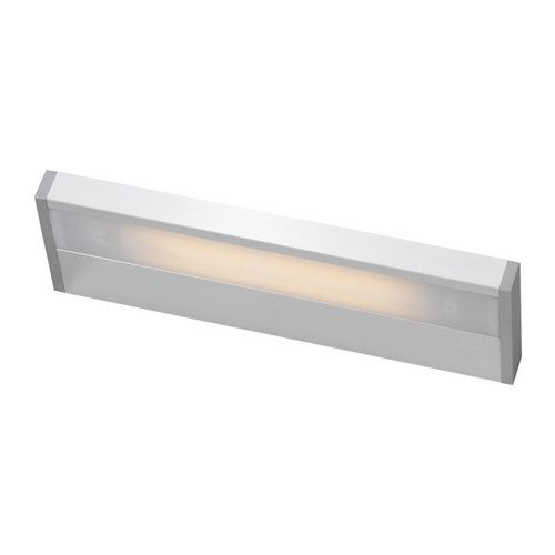 GODMORGON Bathroom lighting IKEA Provides an even light that is good for illuminating around a mirror and sink. $100 40cm
