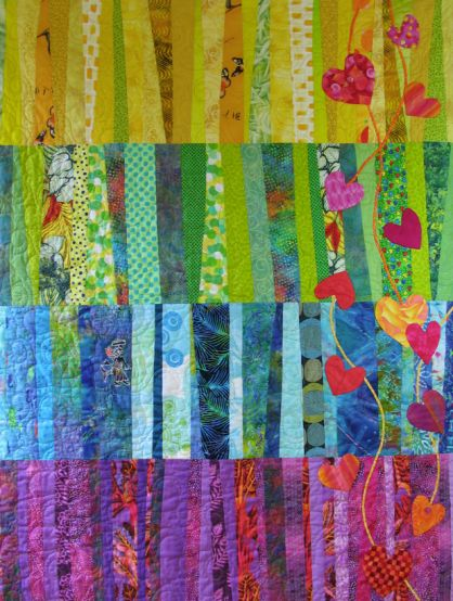 """See How a Quilt Design Evolves–The Many Faces of """"Heartstrings"""" + Giveaway"""