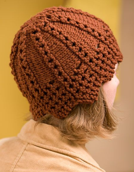 Sideways Hat Pattern - Knitting Patterns and Crochet Patterns from KnitPicks.com