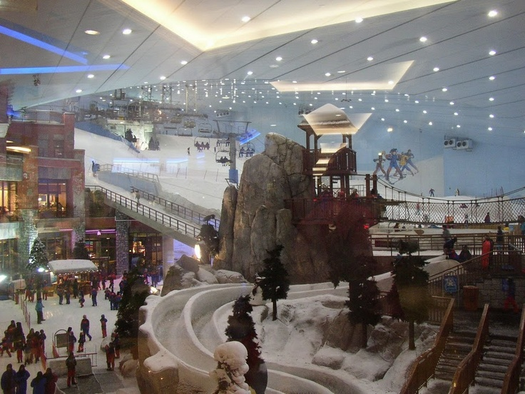 Ski Dubai Mall. 2006 most gorgeous mall ever! Learned to snow board here in the indoor ski lodge