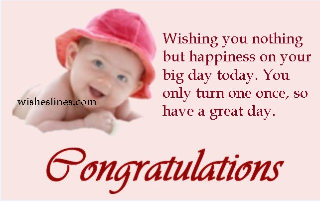 Happy 1st birthday quotes for baby girl or boy - send beautiful birthday greetings messages to your little cute pie!
