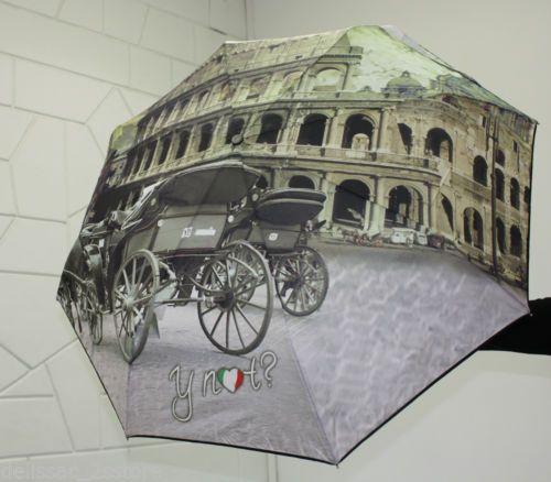 Ombrello antivento Y NOT automatico apri e chiudi stampa Roma   http://stores.ebay.it/delissac-2sstore
