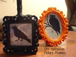 The Fresh Plate: DIY Halloween Picture Frames