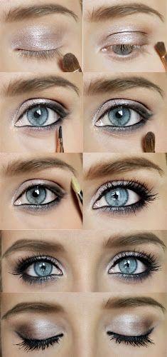 Gold & Blue Eye Shadow